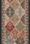 "Ancient Garden 57008-3333 Multi 2'2"" Wide Hall and Stair Runner"