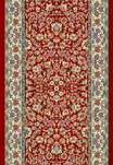"Ancient Garden 57078-1414 Red/Ivory 2'7"" Wide Hall and Stair Runner"