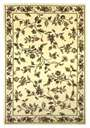 Cambridge Floral 7331 Ivory Floral Vine Area Rug by KAS