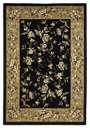Cambridge Floral 7336 Black/Beige Floral Delight Area Rug by KAS