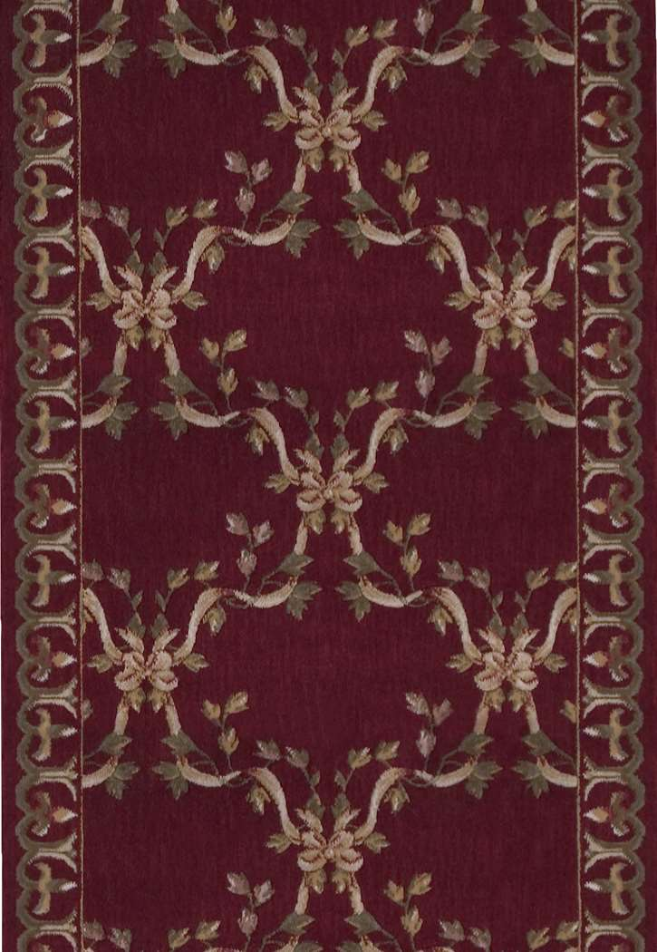 Nourison Ashton House A01r Ribbon Trellis Burgundy 3 Foot