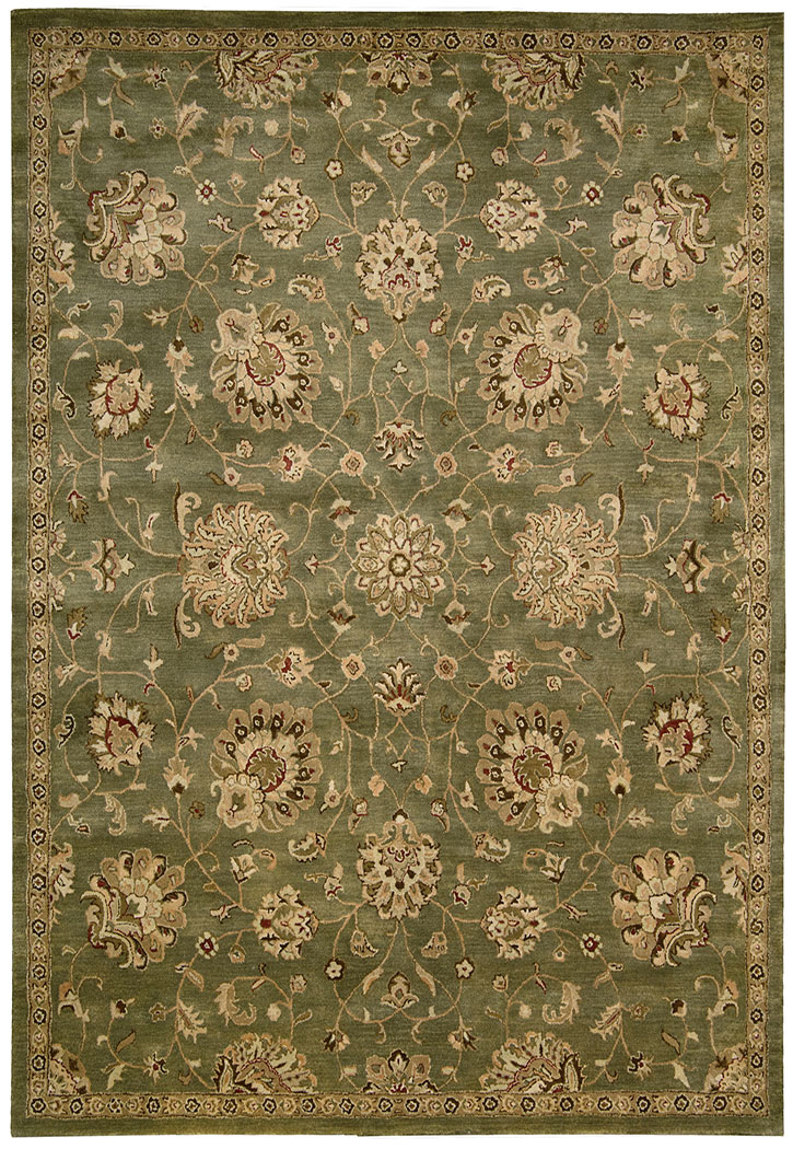 Nourison Jaipur Ja46 Green Traditional Area Rug