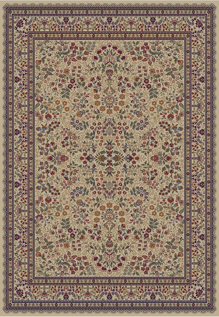 Jewel  4112 Sarouk Ivory Area Rug by Concord Global Trading