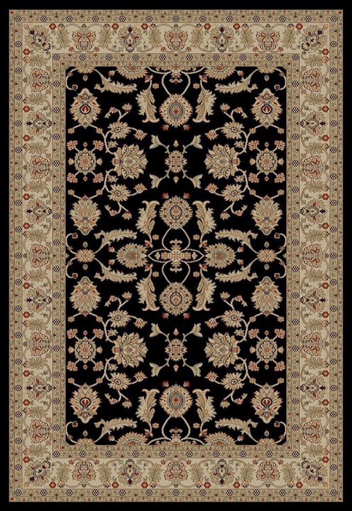 Jewel  4443 Antep Black Area Rug by Concord Global Trading