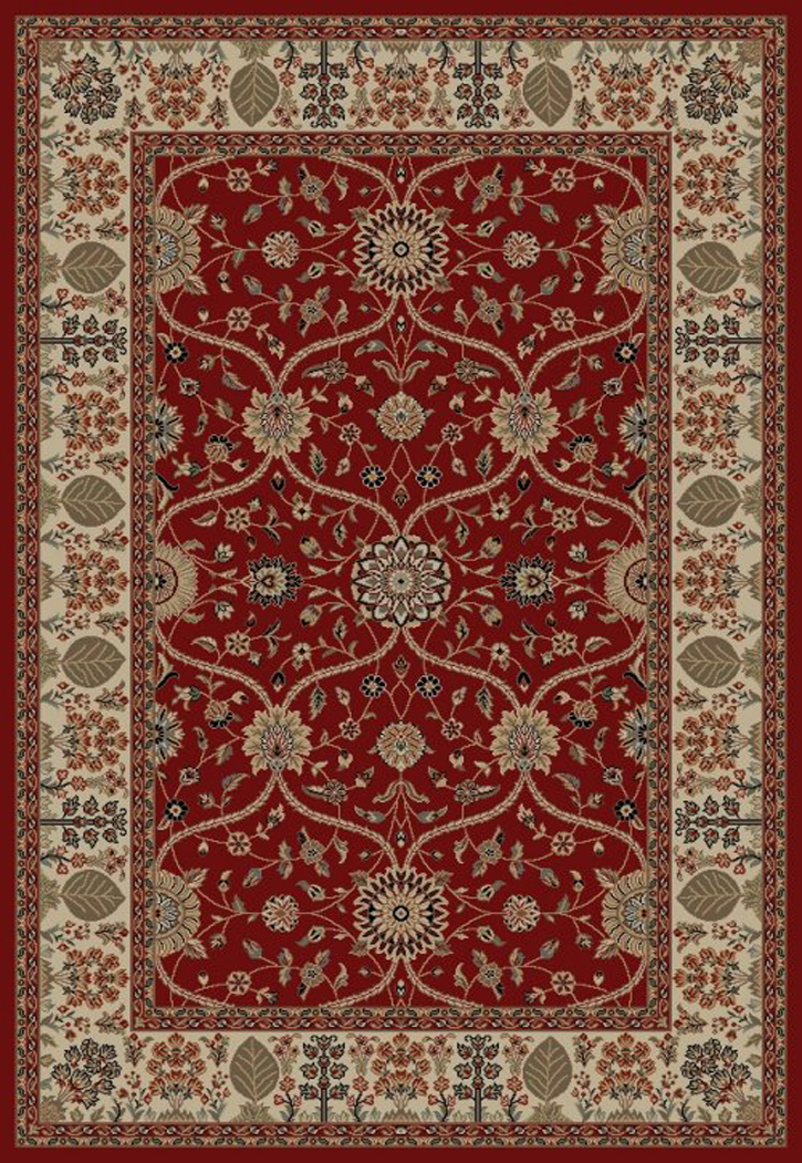 Jewel  4900 Voysey Red Area Rug by Concord Global Trading