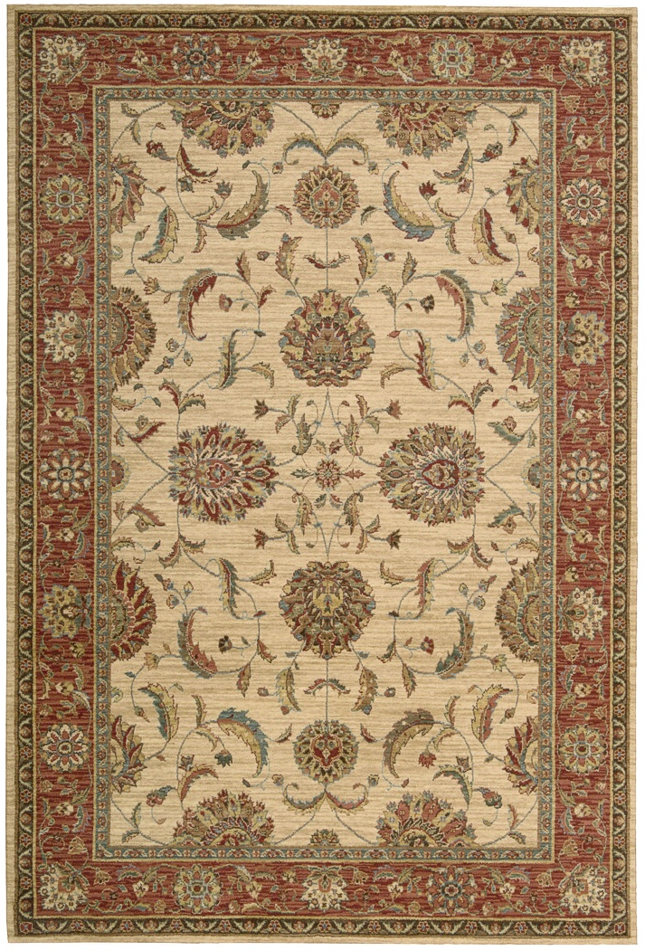 Nourison Living Treasures Li04 Ivory Red Traditional Area Rug
