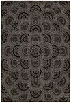 Nourison 2000 2335 Black/Grey Area Rug by Nourison