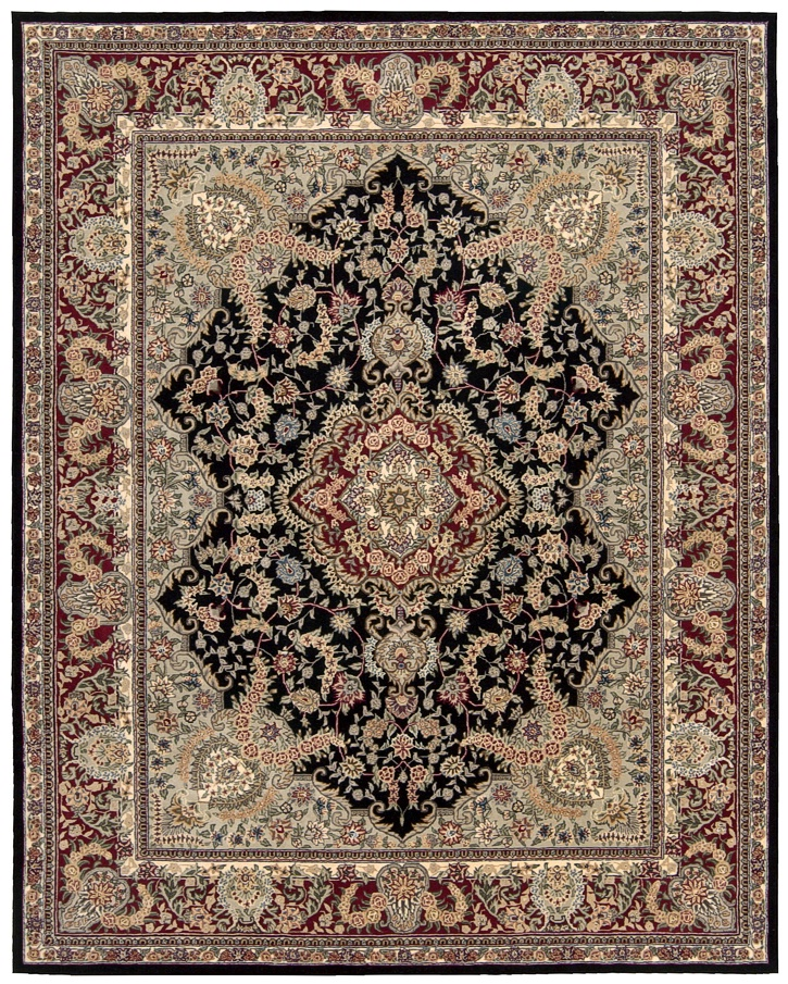 Nourison 2000 2005 Black Traditional Area Rug Carpetmart