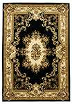 Corinthian 5310 Black/Ivory Aubusson Area Rug by KAS