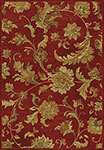 Versailles 8553 Red Aegean Scroll Area Rug by KAS