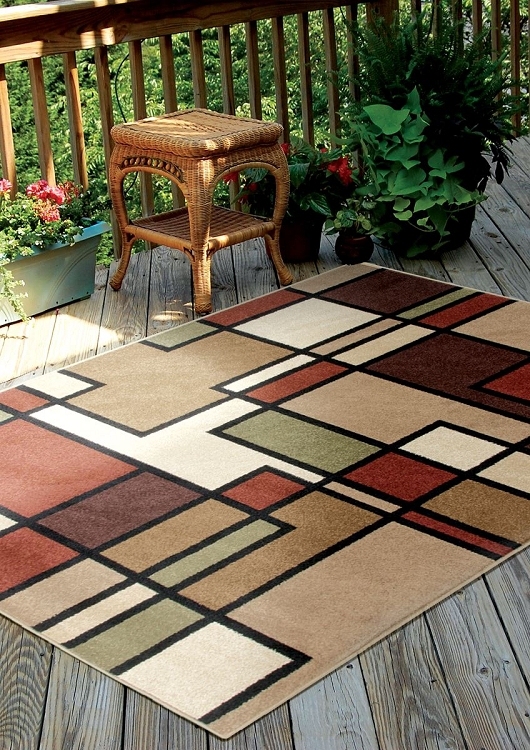 Orian Four Seasons 1820 Rawhide Area Rug