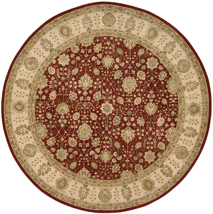 Nourison 3000 3002 Red Round Area Rug Clearance Sale