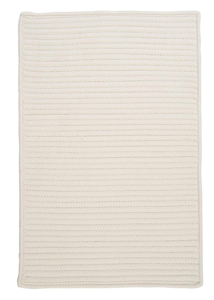 Colonial Mills Simply Home Solid H141 White Area Rug