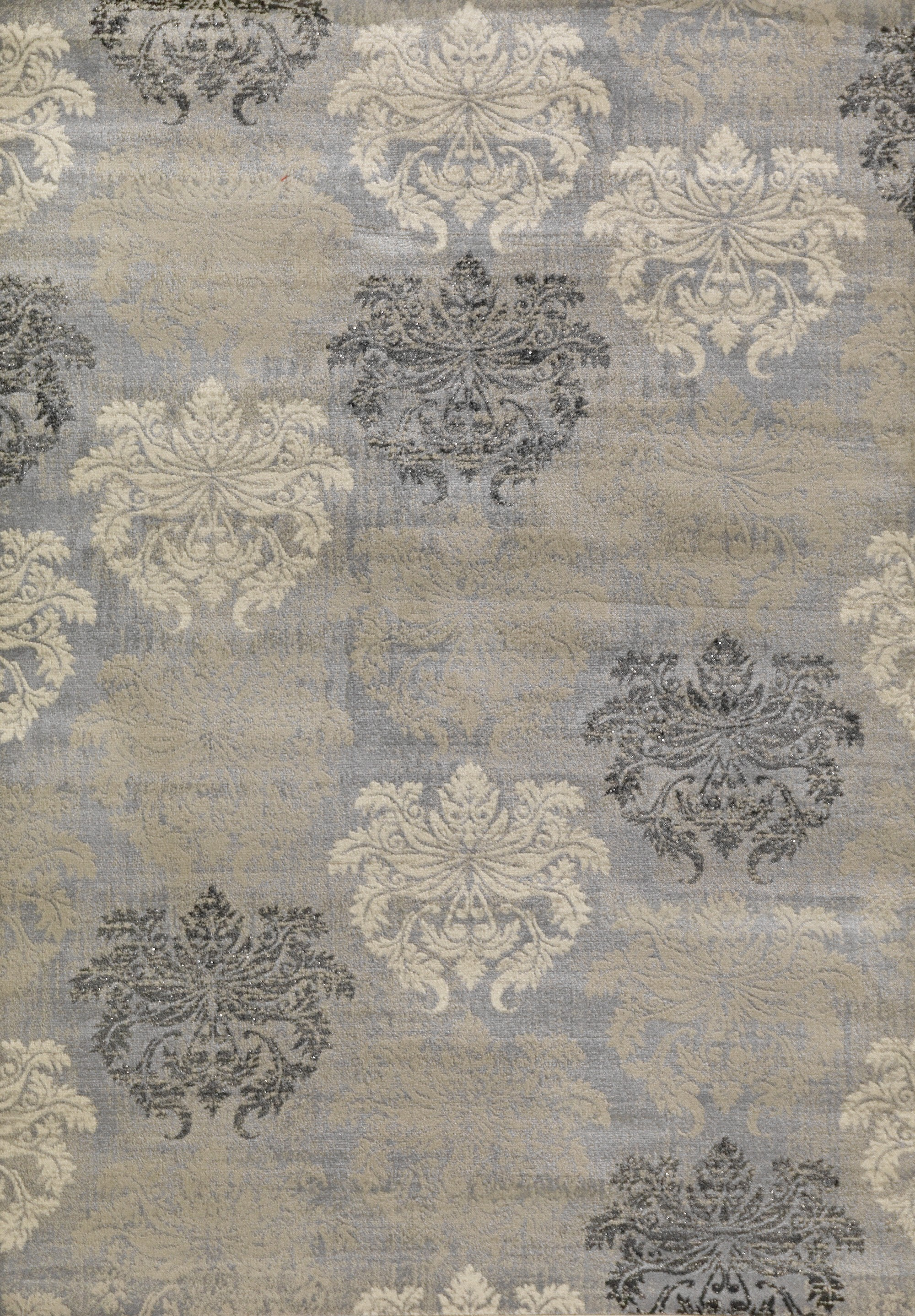 lumina  damask grey area rug by concord global trading  - concord global trading lumina  damask grey area rug