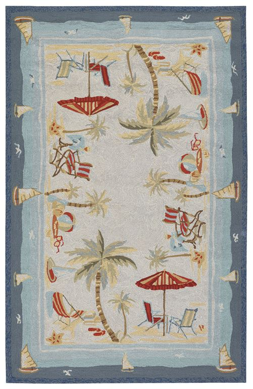 Outdoor Escape 2123 8011 Pacific Heights Ocean Area Rug By
