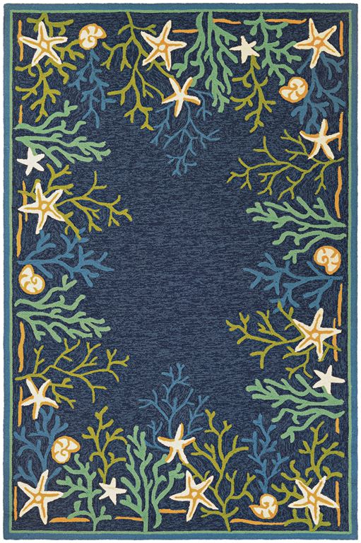 Outdoor Escape 4092 0409 Sea Water Ocean Aqua Area Rug By