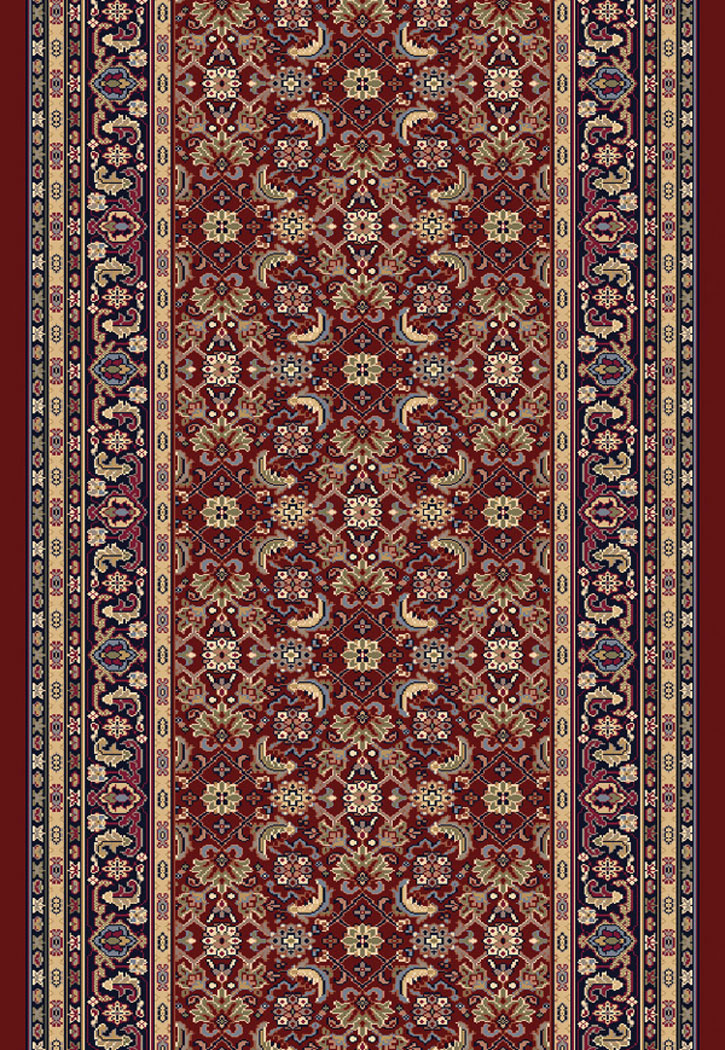Brilliant 72240 330 Red 2 2 Quot Wide Runner By Dynamic Rugs