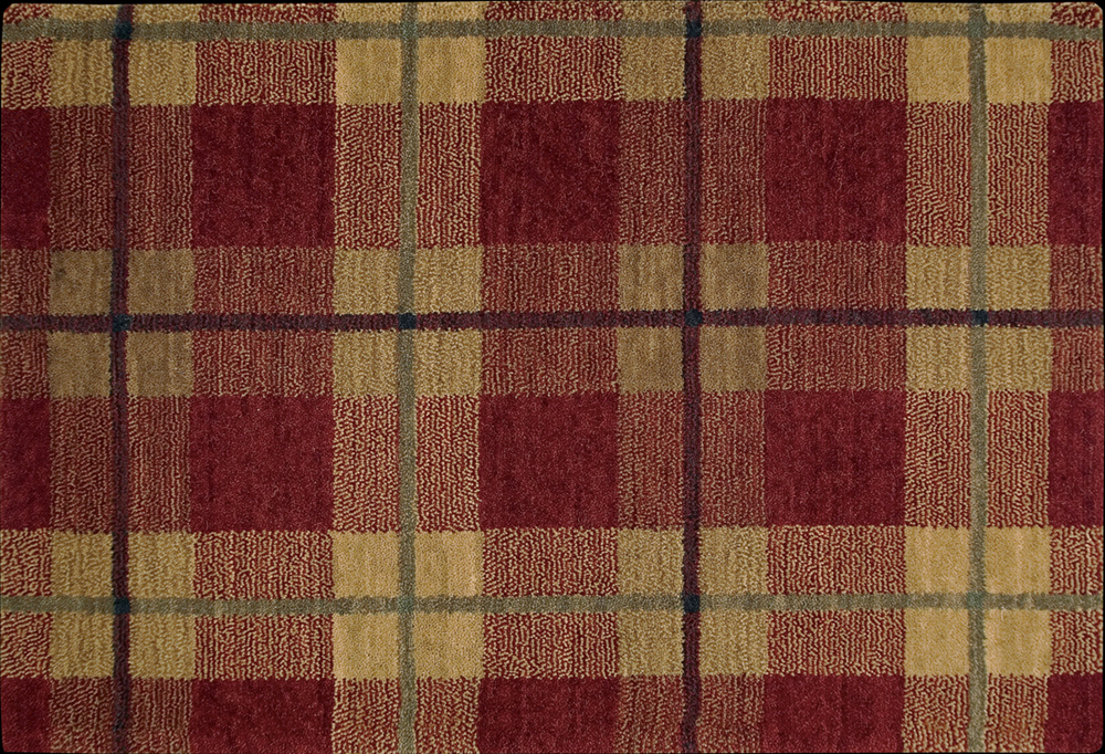 Nourison 50 To Infinity Grand Tartan Pt48 Red B Custom