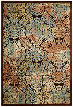 Nourison Graphic Illusions GIL09 Chocolate Area Rug