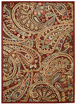 Nourison Graphic Illusions GIL14 Red Area Rug