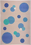 Playful Patterns Baby Dots Blue Area Rug by Joy Carpets