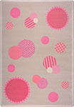 Playful Patterns Baby Dots Pink Area Rug by Joy Carpets