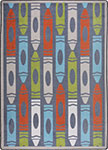 Playful Patterns Jumbo Crayons Chalkdust Area Rug by Joy Carpets