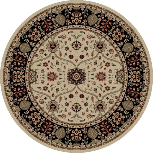 Mohawk Home Traditional Jewel Rug: Concord Global Jewel 4902 Ivory/Black Area Rug