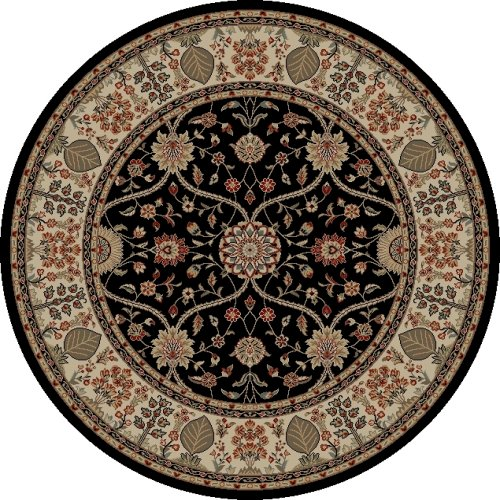 Mohawk Home Traditional Jewel Rug: Concord Global Jewel 4903 Black Area Rug