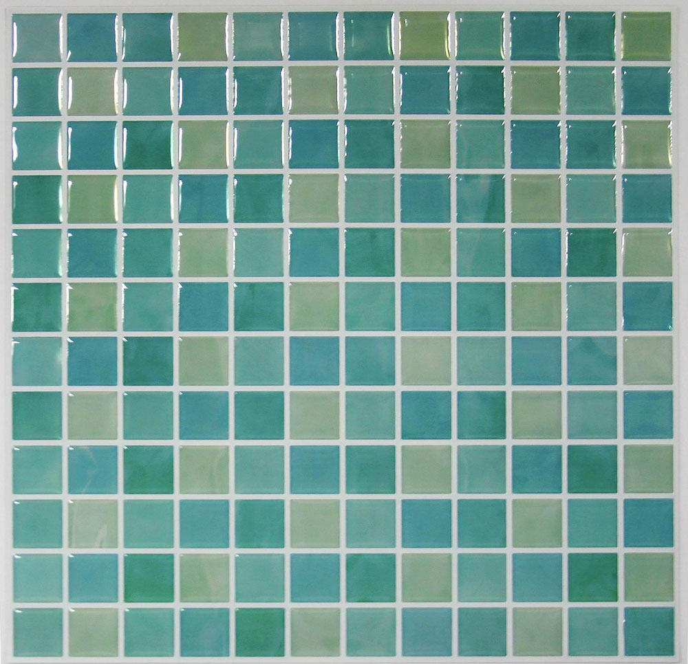 "Self Stick Wall Tile- Blue Glass- 10.5"" x 10.5"" - 4 pack"