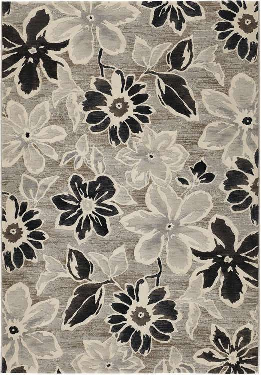 Home gt RUGS Transitional Rugs Everest 63515313 Wild Daisy Grey