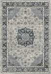 Dynamic Rugs Ancient Garden 57559-9686 Silver/Blue Area Rug