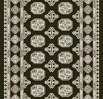 Dynamic Rugs Ancient Garden 57102-3636 Charcoal Silver 2'2