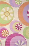 Kidding Around 430 Pastel Peppermints Area Rug by KAS