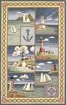 Colonial 1806 Blue Coastal Views Area Rug by KAS