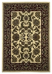 Cambridge Classic 7303 Ivory/Red Kashan Area Rug by KAS