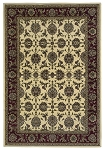 Cambridge Classic 7312 Ivory/Red Kashan Area Rug by KAS
