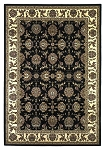 Cambridge Classic 7313 Black/Ivory Kashan Area Rug by KAS