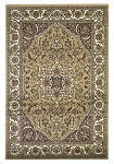 Cambridge Classic 7328 Beige/Ivory Kashan Medallion Area Rug by KAS