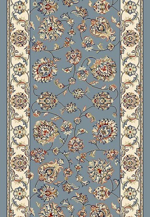 "Ancient Garden 57365-5464 Light Blue/Ivory 2'2"" Wide Hall and Stair Runner"