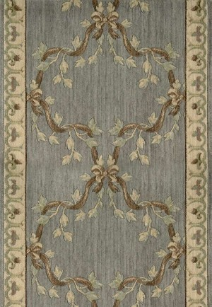 "Ashton House A01R Ribbon Trellis Haze 2'3"" Wide Hall and Stair Runner"