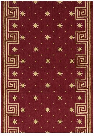 "Cosmopolitan C95R R51 Celestial Red 2'6"" Wide Hall and Stair Runner"