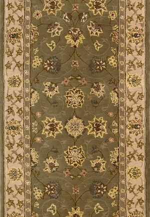 "Nourison 2000 2003 Olive 2'6"" Wide Hall and Stair Runner"