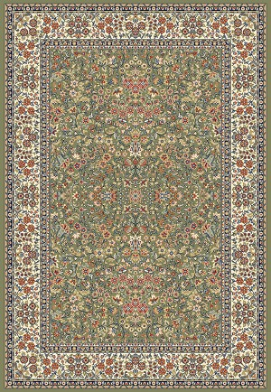 Ancient Garden 57078-4444 Green/Ivory (44 Green) Area Rug by Dynamic Rugs