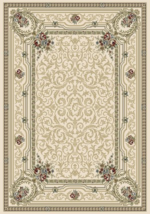 Ancient Garden 57091-6464 Ivory (64 Pearl) Area Rug by Dynamic Rugs