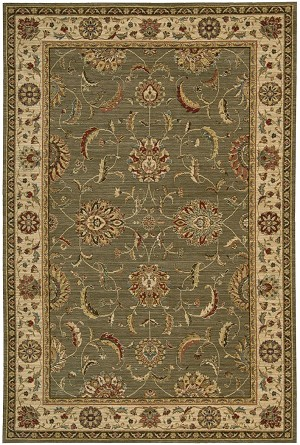 Living Treasures  LI04 Green Area Rug by Nourison