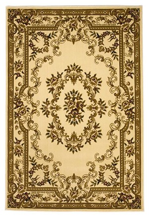 Corinthian 5311 Ivory Aubusson Area Rug by KAS
