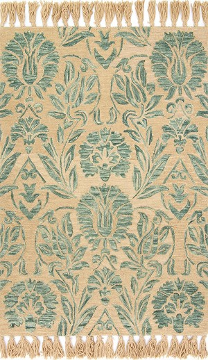 Jozie Day JG-01 Aqua Area Rug - Magnolia Home by Joanna Gaines