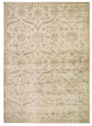Luminance  LUM04 Cream/Mint Area Rug by Nourison