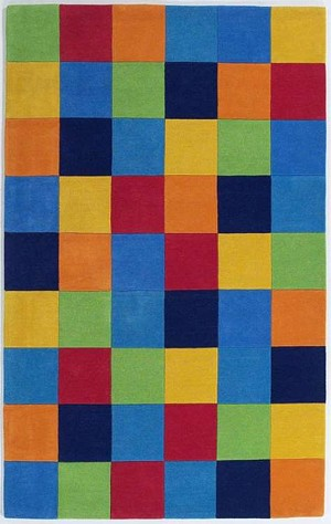 Kidding Around 416 Boys Color Blocks Area Rug by KAS